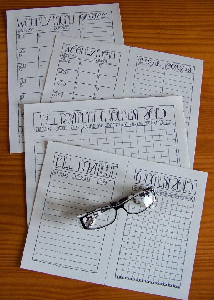 Bill payment menu planner pic
