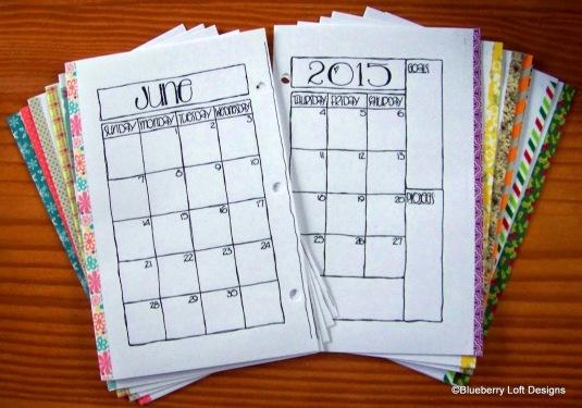 washi calendars